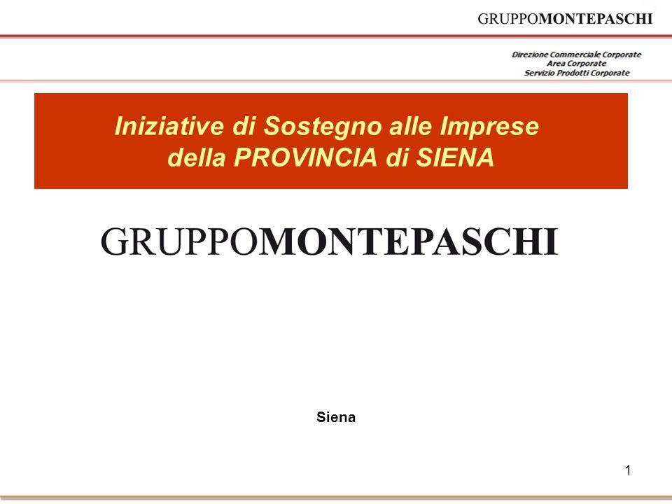 1 Siena Iniziative di Sostegno alle Imprese della PROVINCIA di SIENA