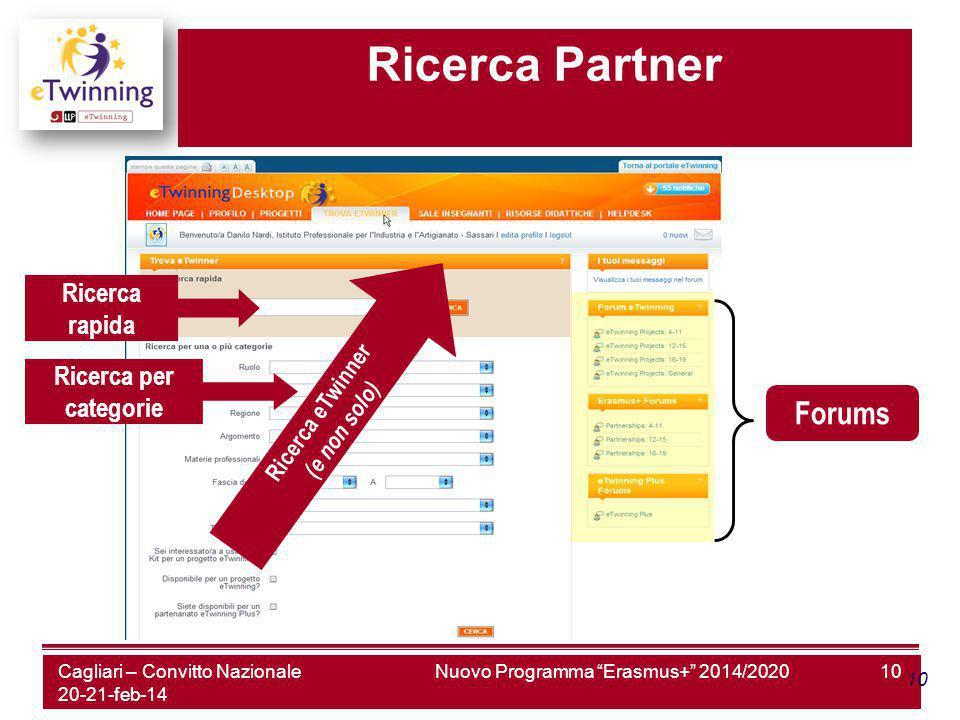 Nuovo Programma Erasmus+ 2014/202010 Ricerca Partner Forums Ricerca eTwinner (e non solo) Ricerca rapida Ricerca per categorie Cagliari – Convitto Nazionale 20-21-feb-14