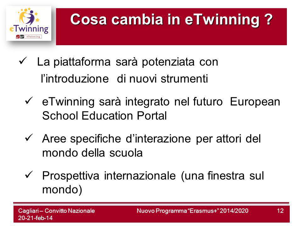 Nuovo Programma Erasmus+ 2014/202012 Cosa cambia in eTwinning .