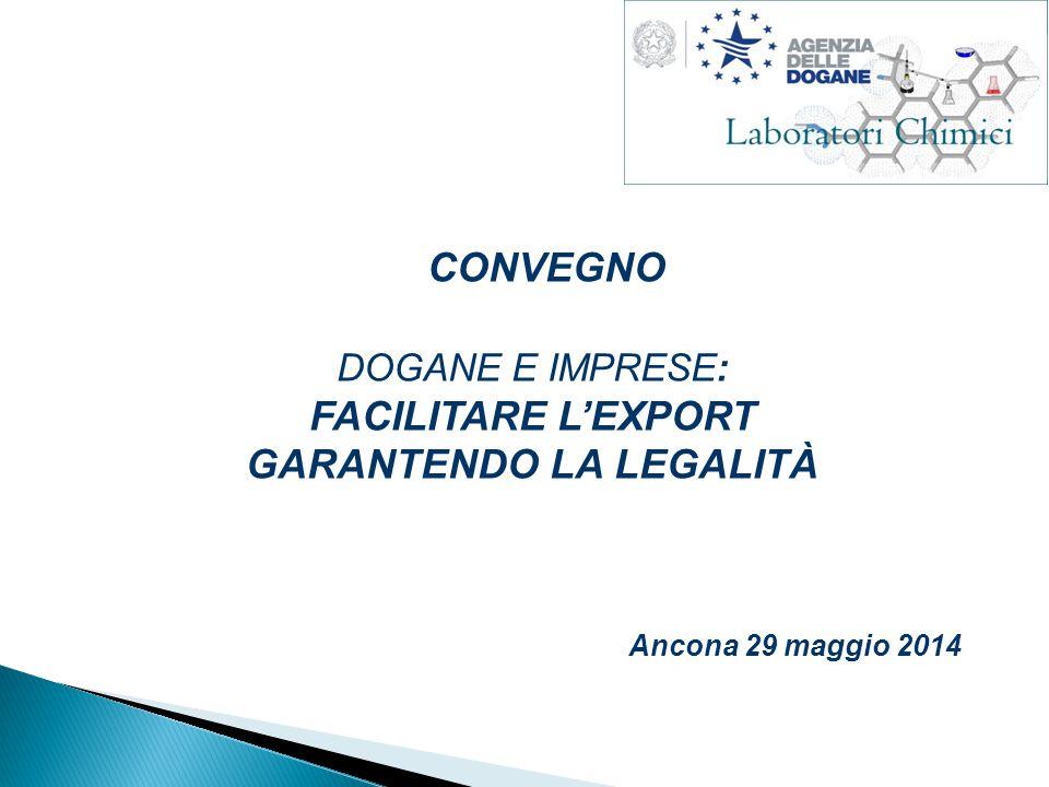 CONVEGNO DOGANE E IMPRESE: FACILITARE L'EXPORT GARANTENDO LA LEGALITÀ Ancona 29 maggio 2014