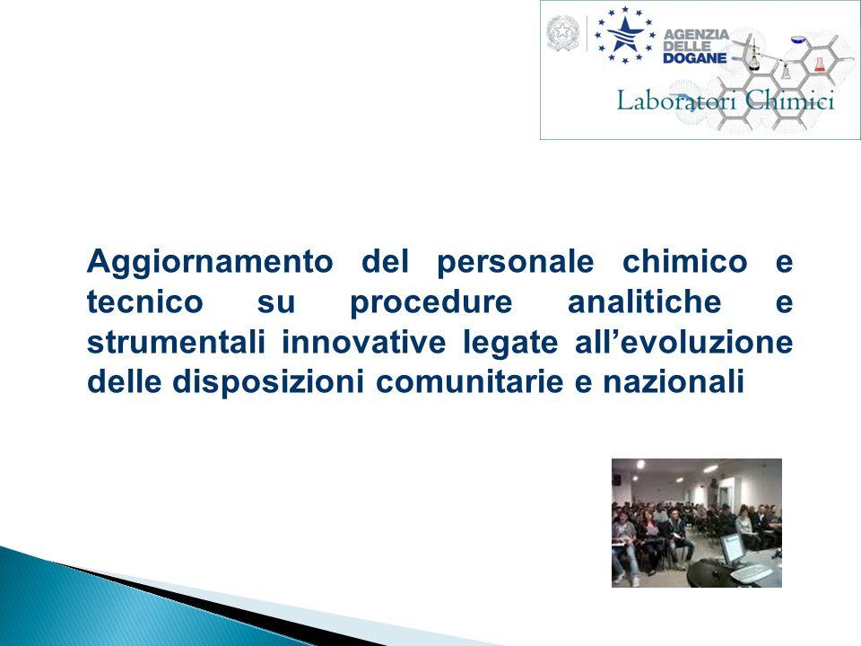 Aggiornamento del personale chimico e tecnico su procedure analitiche e strumentali innovative legate all'evoluzione delle disposizioni comunitarie e nazionali