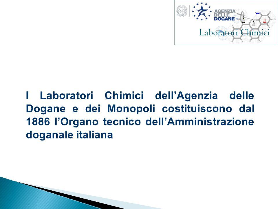 I Laboratori Chimici dell'Agenzia delle Dogane e dei Monopoli costituiscono dal 1886 l'Organo tecnico dell'Amministrazione doganale italiana