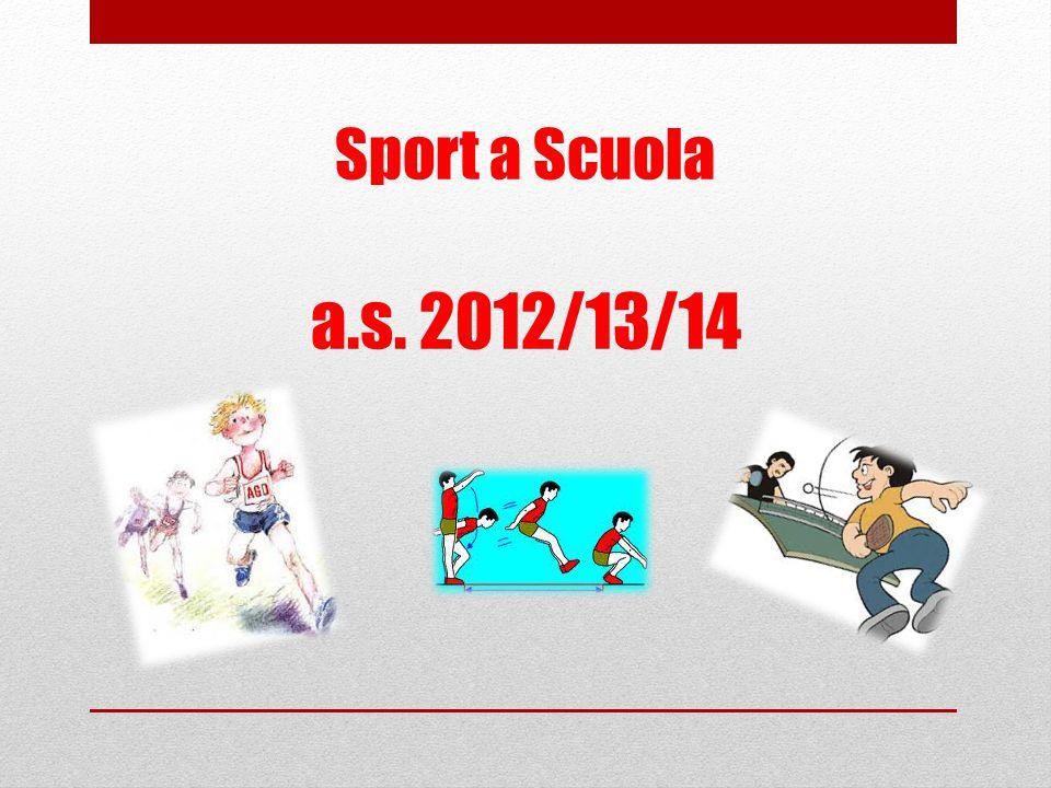 Sport a Scuola a.s. 2012/13/14
