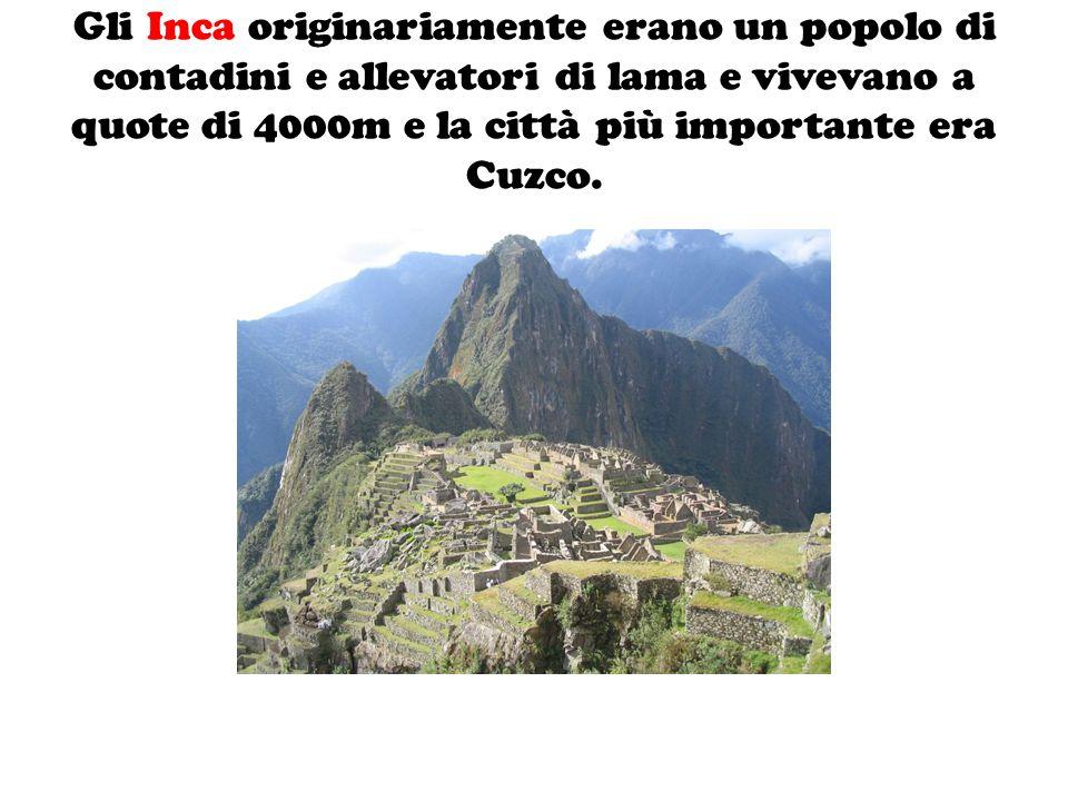 La società Inca, era suddivisa in classi sociali distinte tra loro.