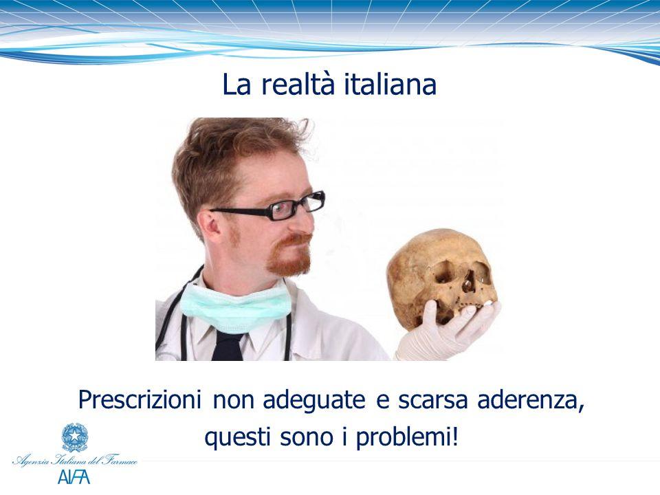 La realtà italiana Prescrizioni non adeguate e scarsa aderenza, questi sono i problemi!