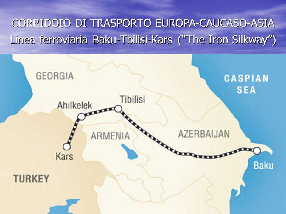 CORRIDOIO DI TRASPORTO EUROPA-CAUCASO-ASIA Linea ferroviaria Baku-Tbilisi-Kars ( The Iron Silkway )