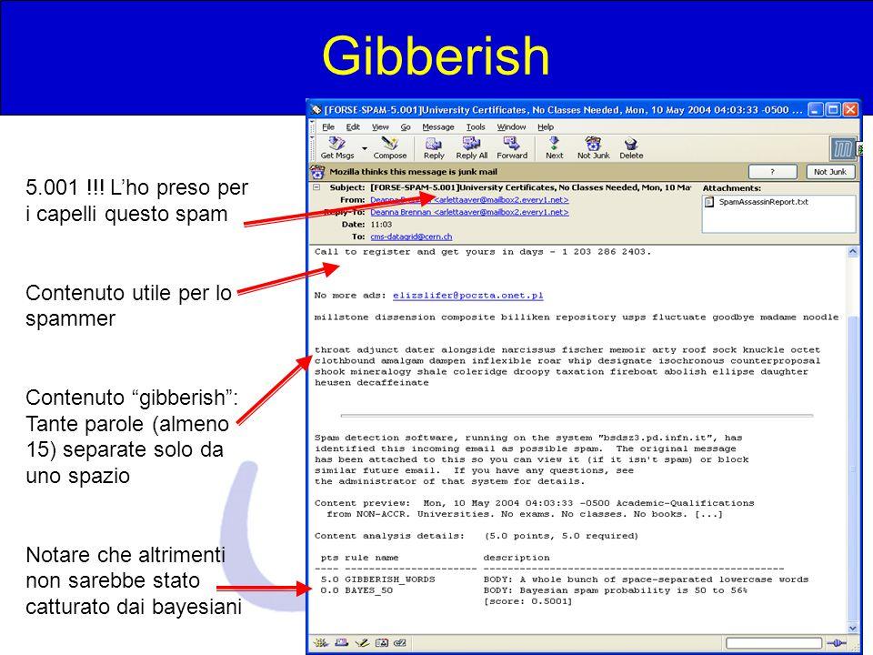 """Michele Michelotto - Padova Gibberish 5.001 !!! L'ho preso per i capelli questo spam Contenuto utile per lo spammer Contenuto """"gibberish"""": Tante parol"""