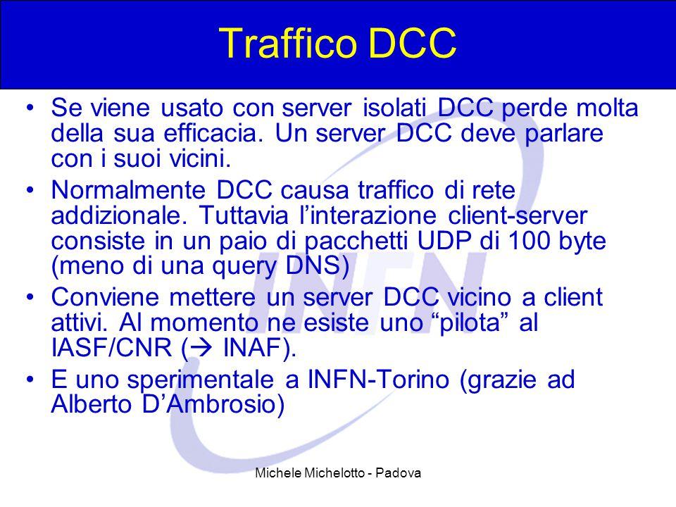 Michele Michelotto - Padova Traffico DCC Se viene usato con server isolati DCC perde molta della sua efficacia. Un server DCC deve parlare con i suoi