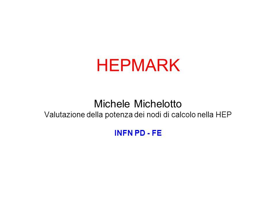 Finanziata da CSN5 nel 2009-2010 –Padova, Ferrara, Bologna Richiesta estensione nel 2011 Studio delle prestazioni dei Worker Node HEP (Nodi di Calcolo nelle farm degli esperimenti HEP) –Benchmark di riferimento HEP-SPEC06 in sostituzione di SPEC INT 2000 –Confronto con le prestazioni di applicativi HEP –Report per i referee del calcolo LHC e di CCR per l'ottimizzazione del costo/prestazioni e i costi energetici Collaborazione internazionale con il gruppo HEPIX e con WLCG