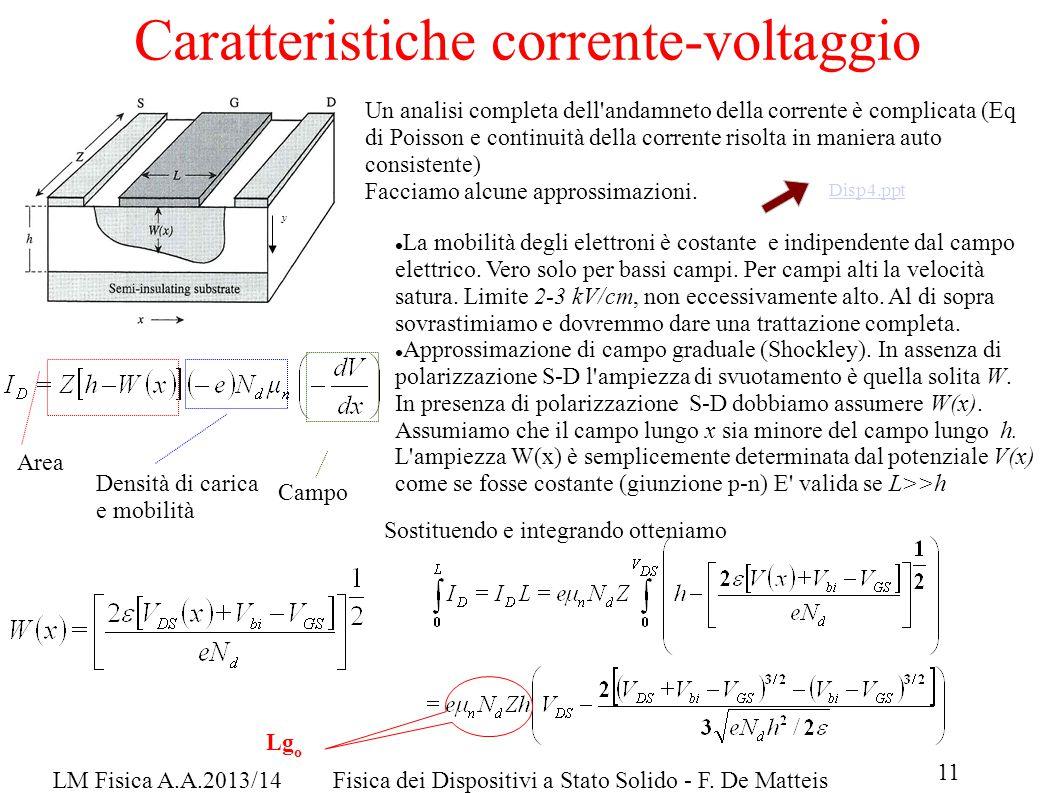 11 LM Fisica A.A.2013/14Fisica dei Dispositivi a Stato Solido - F.