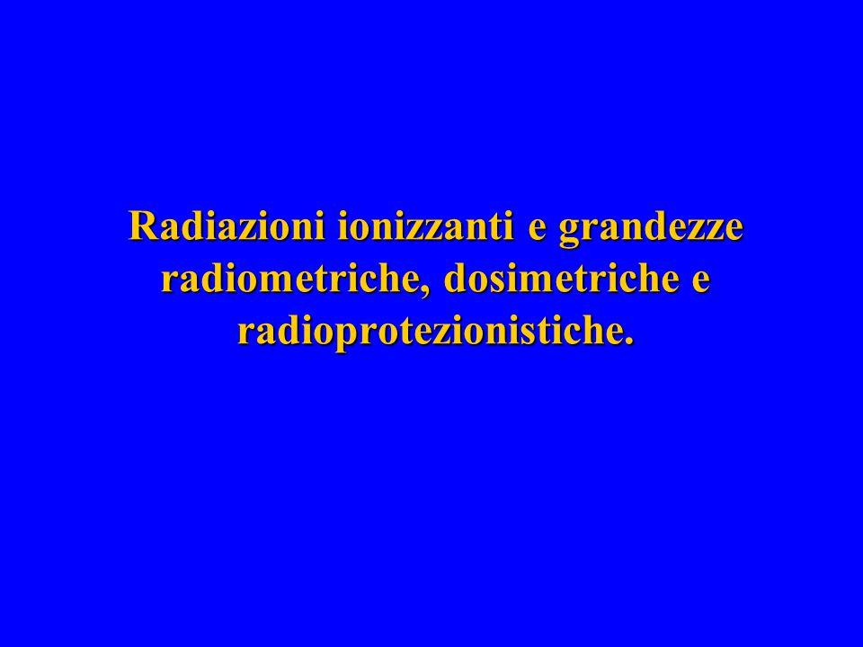 Radiazioni ionizzanti Hanno capacità di strappare elettroni legati nella materia che attraversano.