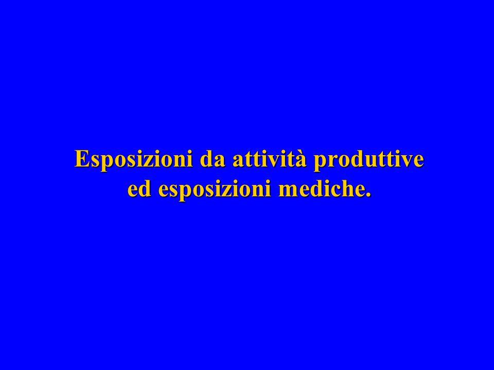 Esposizioni da attività produttive ed esposizioni mediche.