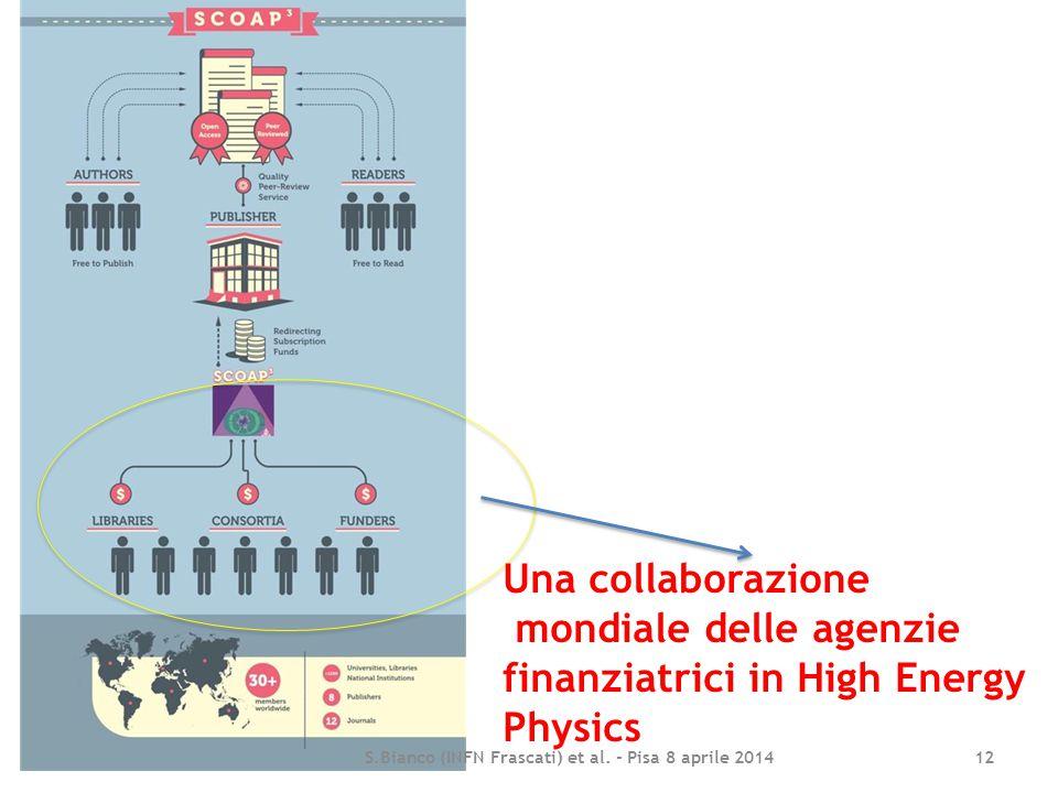 S.Bianco (INFN Frascati) et al. - Pisa 8 aprile 2014 12 Una collaborazione mondiale delle agenzie finanziatrici in High Energy Physics