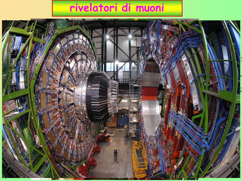 """21 rivelatori di muoni Rivela muoni e ne misura l ' impulso Muoni sono """" poco interagenti """"  se attraversano materiali perdono poca energia  ~unici"""