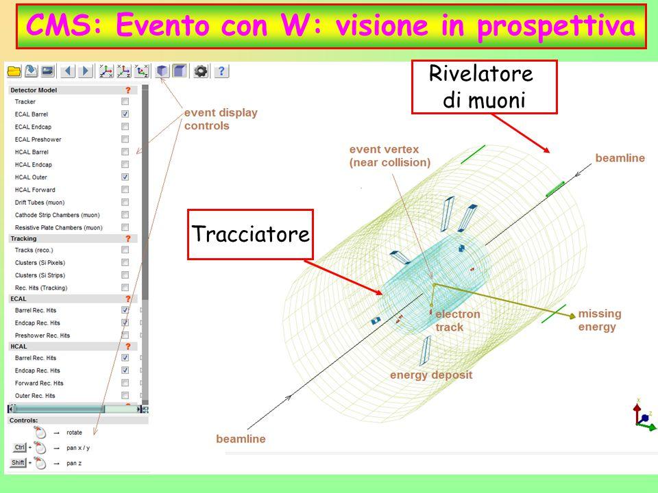28 CMS: Evento con W: visione in prospettiva Tracciatore Rivelatore di muoni