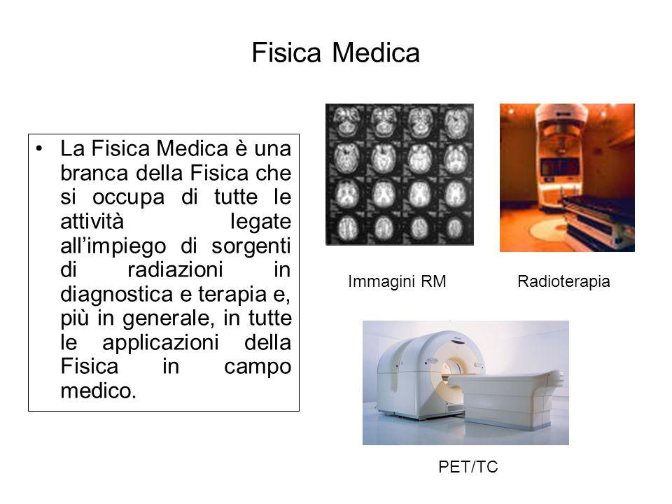 Fisica Medica La Fisica Medica è una branca della Fisica che si occupa di tutte le attività legate all'impiego di sorgenti di radiazioni in diagnostic