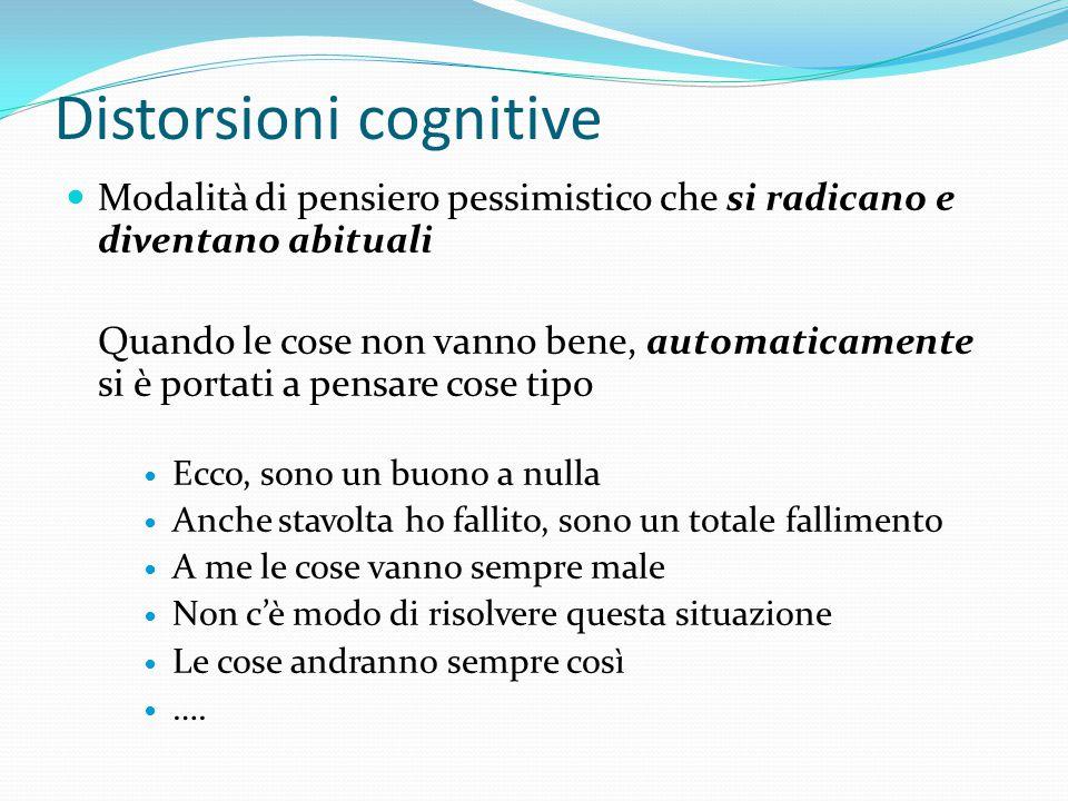 """Terapia Cognitiva Mira a """"correggere"""" le distorsioni cognitive indotte dalla depressione Miglioramento del tono dell'umore Aumento delle attività Ripr"""