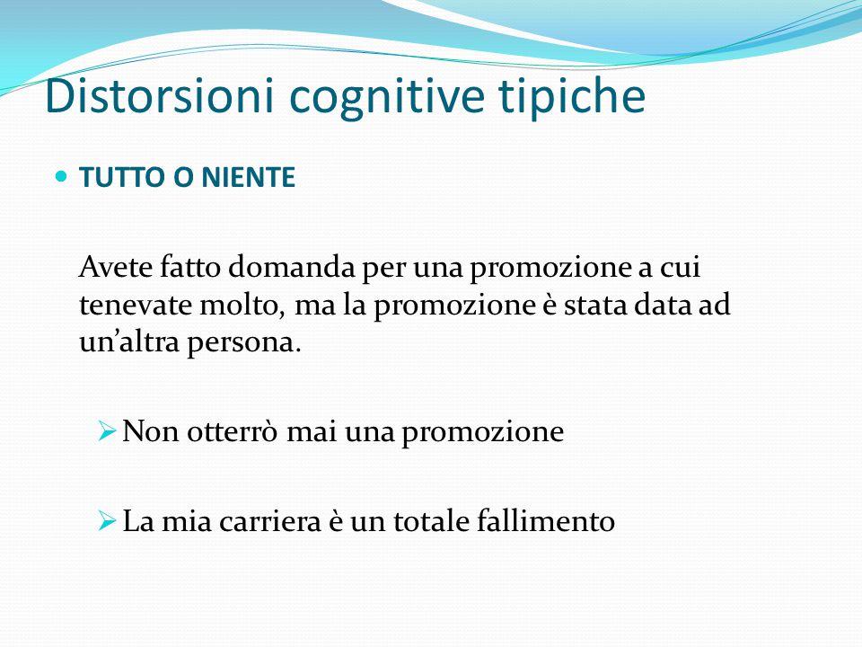 """Distorsioni cognitive tipiche Il primo passo per riuscire a combattere questi pensieri negativi e """"rendersi conto"""" di pensarli"""