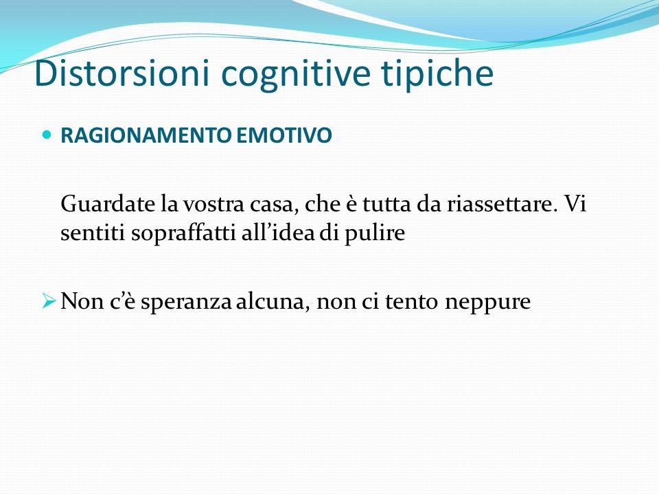 """Distorsioni cognitive tipiche ESALTAZIONE E MINIMIZZAZIONE Anche in questo caso si ha un errore di """"visualizzazione"""": i successi vengono rimpiccioliti"""
