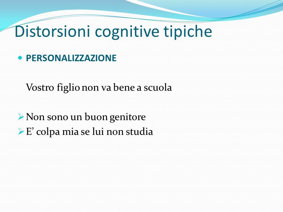"""Distorsioni cognitive tipiche ETICHETTATURE Nel momento in cui etichettiamo noi stessi in un certo modo """"permettiamo"""" noi stessi di esserlo Molto megl"""