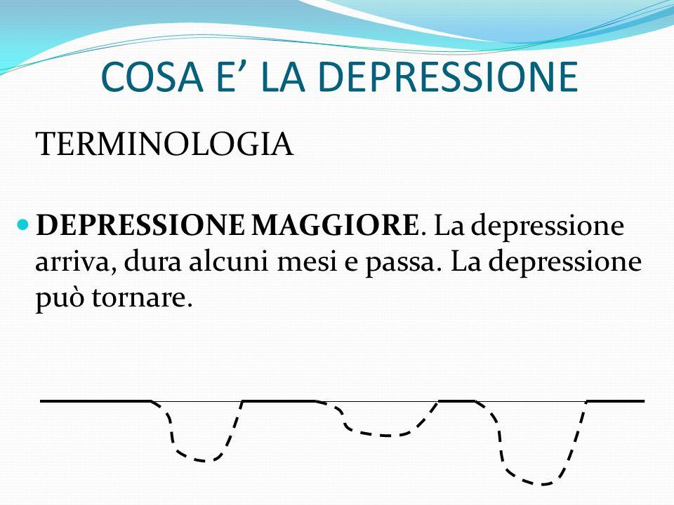 """COSA E' LA DEPRESSIONE TERMINOLOGIA DEPRESSIONE. Parliamo di """"depressione clinica"""" Non il normale dolore che segue ad una perdita Non la normale trist"""