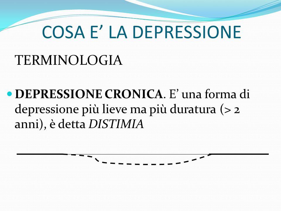 COSA E' LA DEPRESSIONE TERMINOLOGIA DEPRESSIONE MAGGIORE. La depressione arriva, dura alcuni mesi e passa. La depressione può tornare.