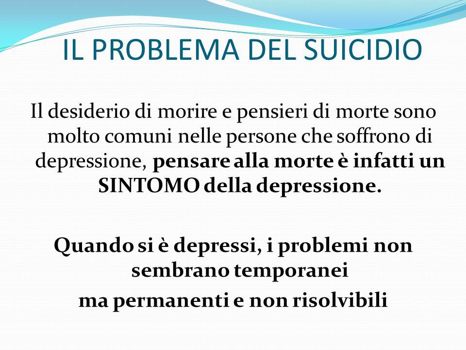 ALTRE FORME DI DEPRESSIONE DEPRESSIONE DOPPIA E' presente una depressione cronica (distimia) a cui si sovrappongono episodi di depressione maggiore