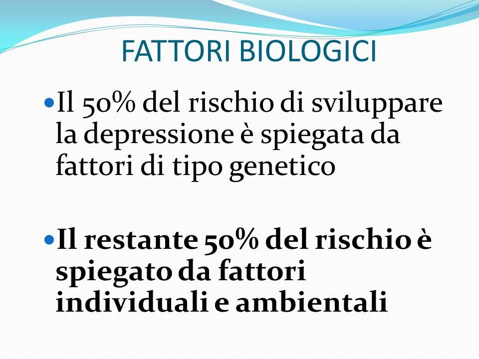 FATTORI BIOLOGICI RISCHIO GENETICO