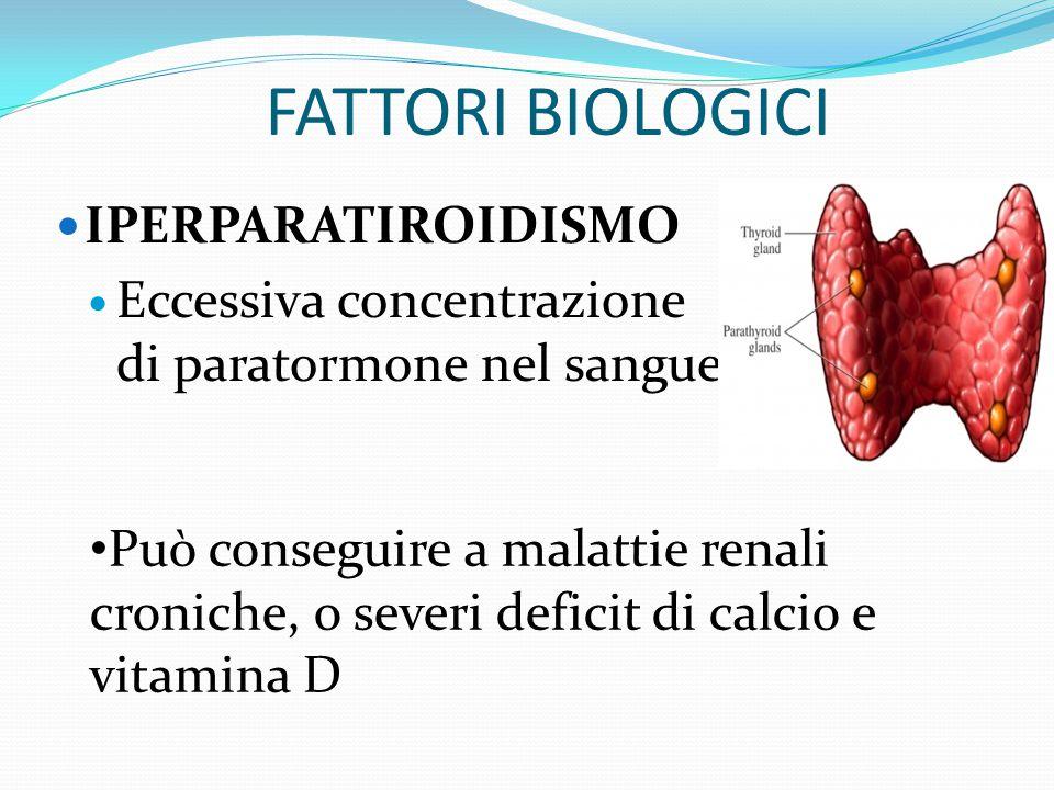 FATTORI BIOLOGICI MORBO DI HASHIMOTO Malattia della tiroide di natura infiammatoria Ne diminuisce la funzionalità fino a portare a ipotiroidismo