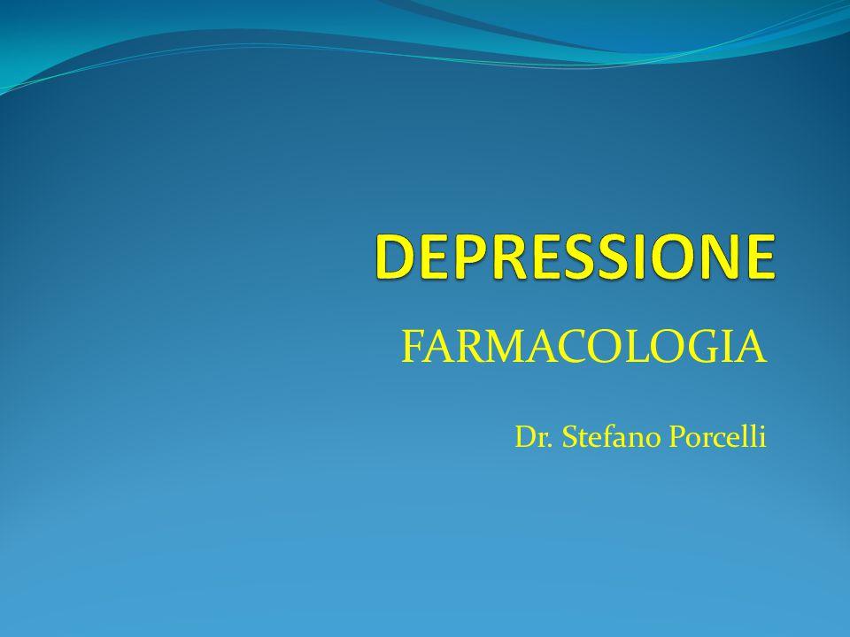 LE CAUSE DELLA DEPRESSIONE I farmaci antidepressivi agiscono a livello delle strutture che regolano il rilascio e la degradazione dei neurotrasmettito