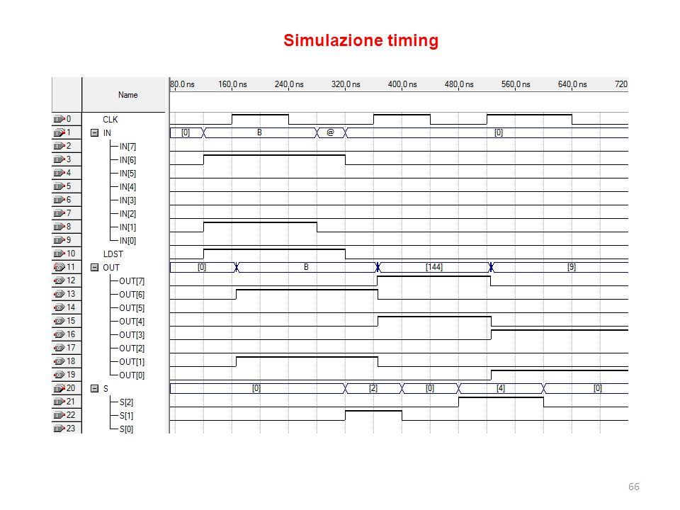 66 Simulazione timing
