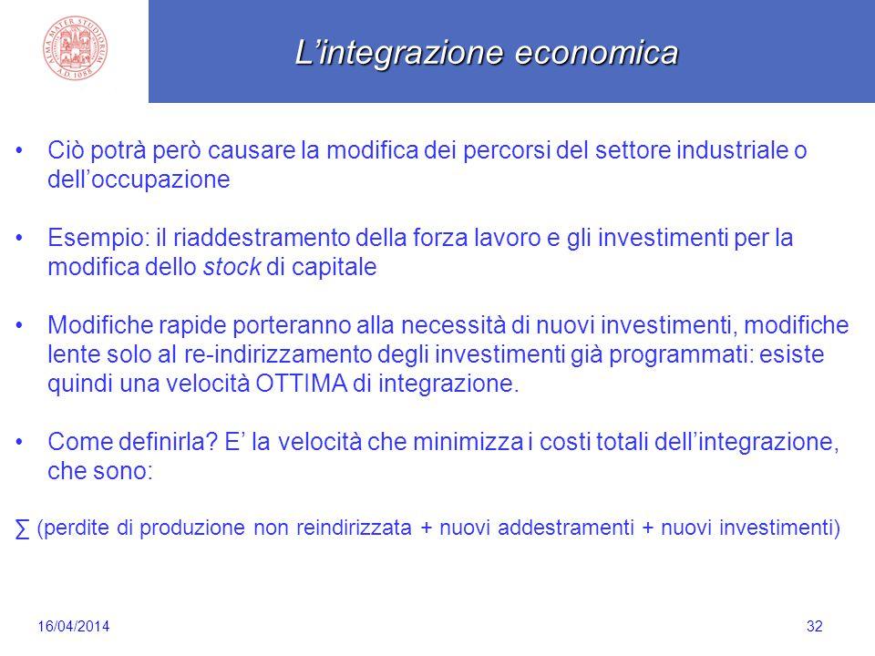Scaletta 32 Ciò potrà però causare la modifica dei percorsi del settore industriale o dell'occupazione Esempio: il riaddestramento della forza lavoro