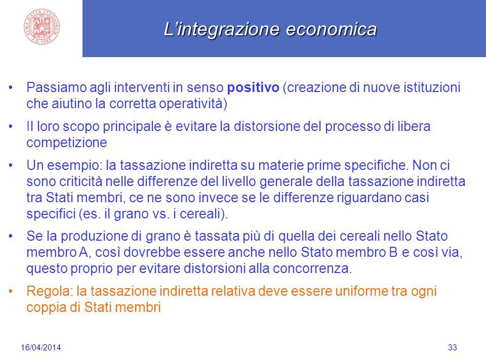Scaletta 33 Passiamo agli interventi in senso positivo (creazione di nuove istituzioni che aiutino la corretta operatività) Il loro scopo principale è