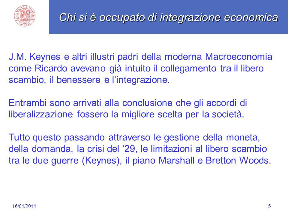 5 J.M. Keynes e altri illustri padri della moderna Macroeconomia come Ricardo avevano già intuito il collegamento tra il libero scambio, il benessere