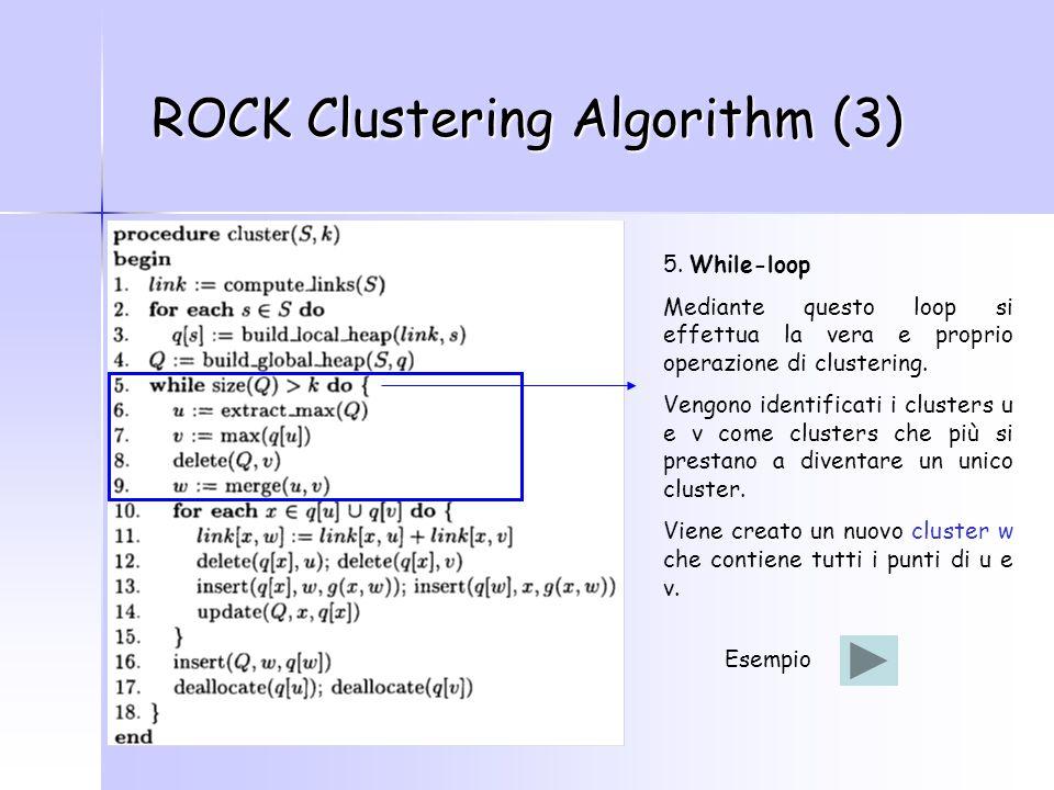 ROCK Clustering Algorithm (3) 5.