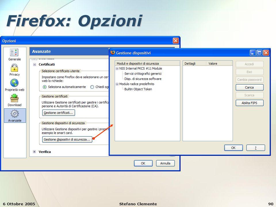 6 Ottobre 2005Stefano Clemente90 Firefox: Opzioni