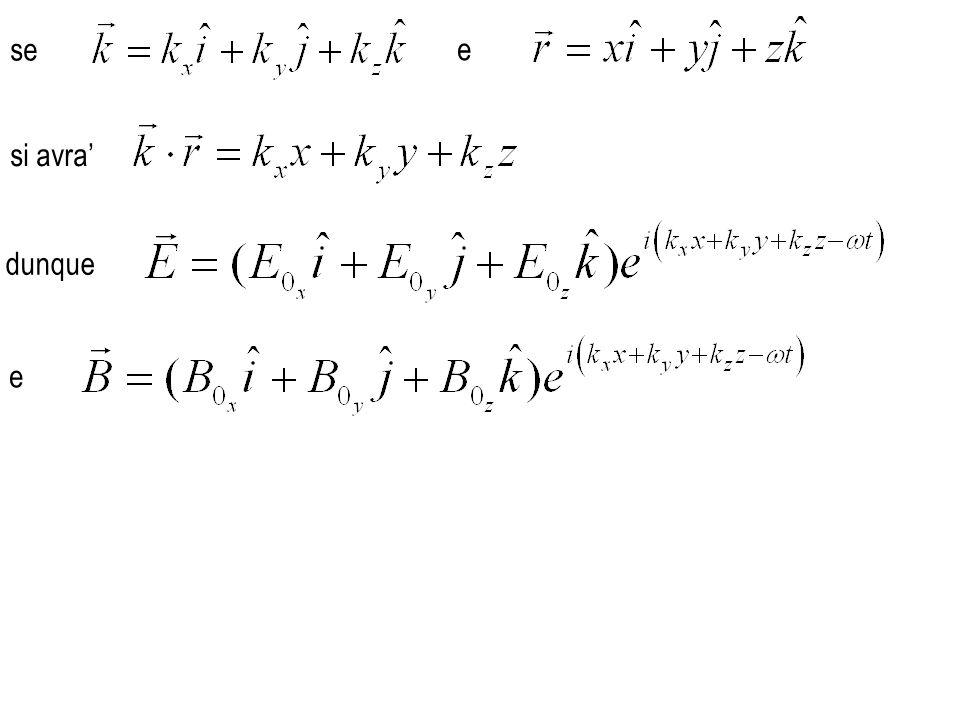 dunque dove e analogamente per le componenti y e z per quanto riguarda la divergenza