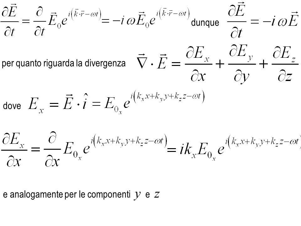 z y x nel piano ortogonale alla direzione un onda e.m.