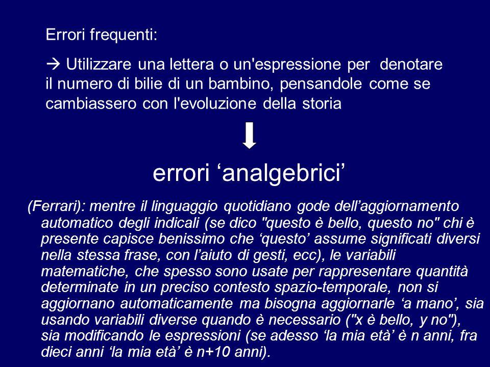 (Ferrari): mentre il linguaggio quotidiano gode dell'aggiornamento automatico degli indicali (se dico