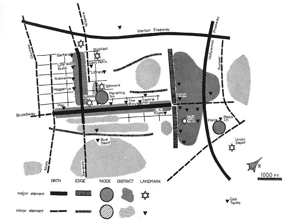 valerio cutini a.a. 2013-2014 Lynch: la struttura dell'immagine urbana Tramite i 5 elementi ora definiti, è possibile costruire la struttura dell'imma