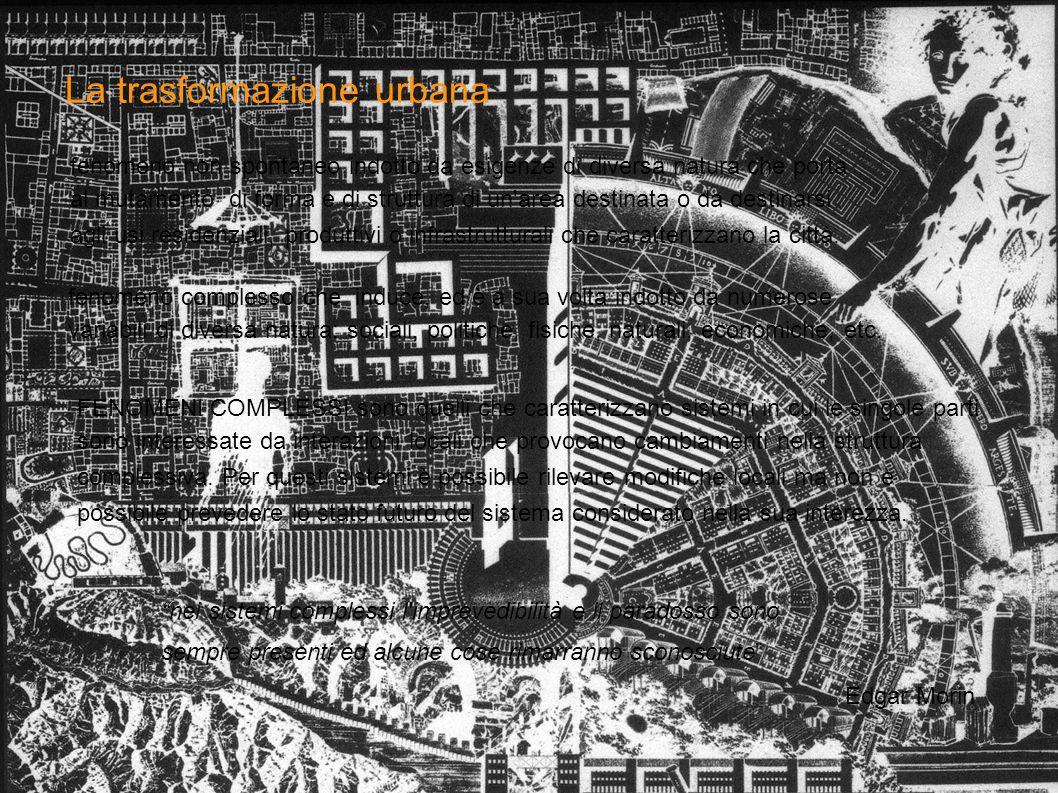 La trasformazione urbana fenomeno non spontaneo indotto da esigenze di diversa natura che porta al mutamento di forma e di struttura di un'area destin