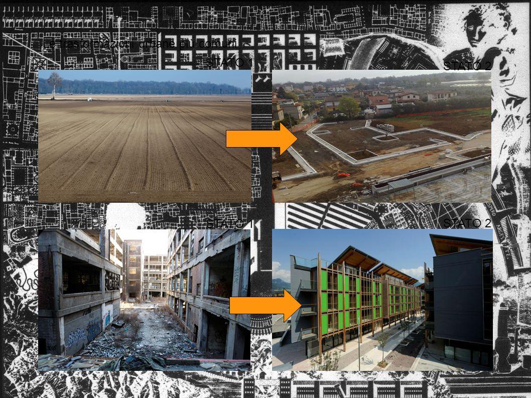 Le trasformazioni urbane più comuni STATO 1 STATO 2 STATO 1 STATO 2