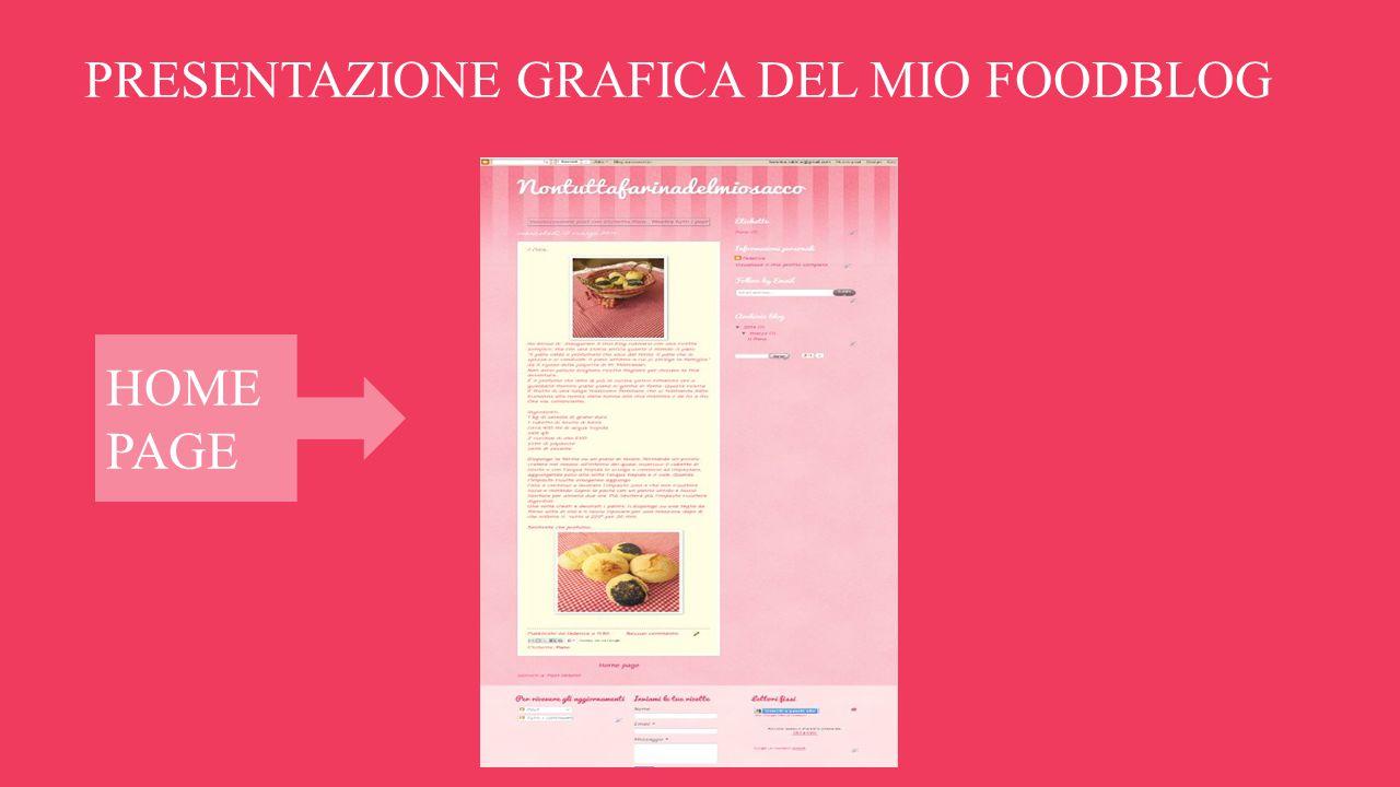 PRESENTAZIONE GRAFICA DEL MIO FOODBLOG HOME PAGE