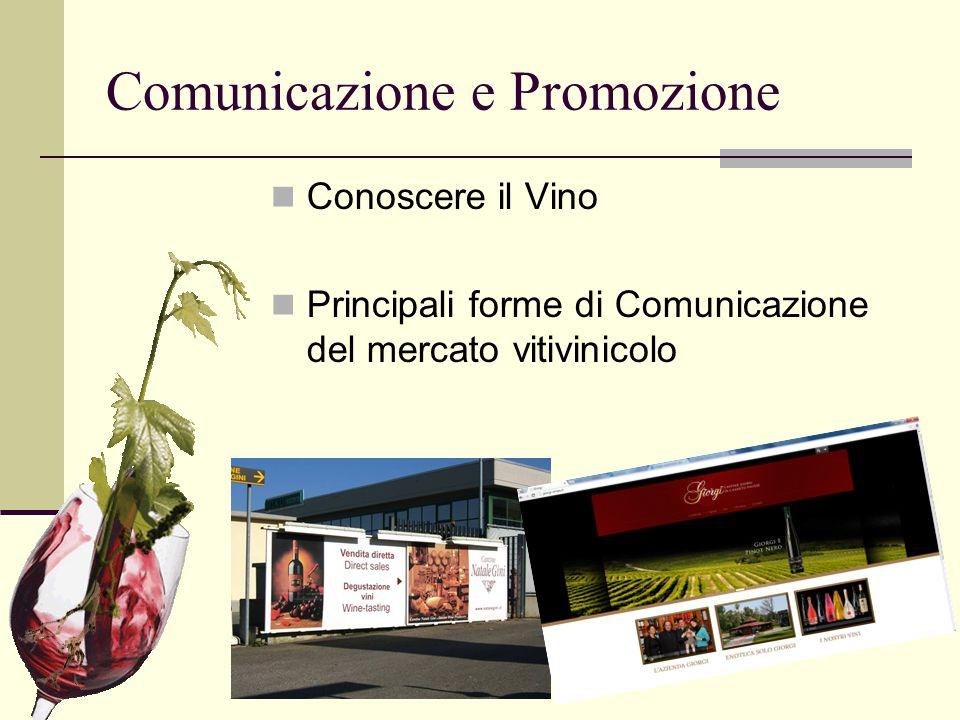 Comunicazione e Promozione Conoscere il Vino Principali forme di Comunicazione del mercato vitivinicolo