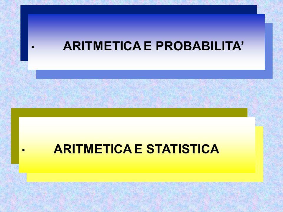 ARITMETICA E PROBABILITA' ARITMETICA E STATISTICA