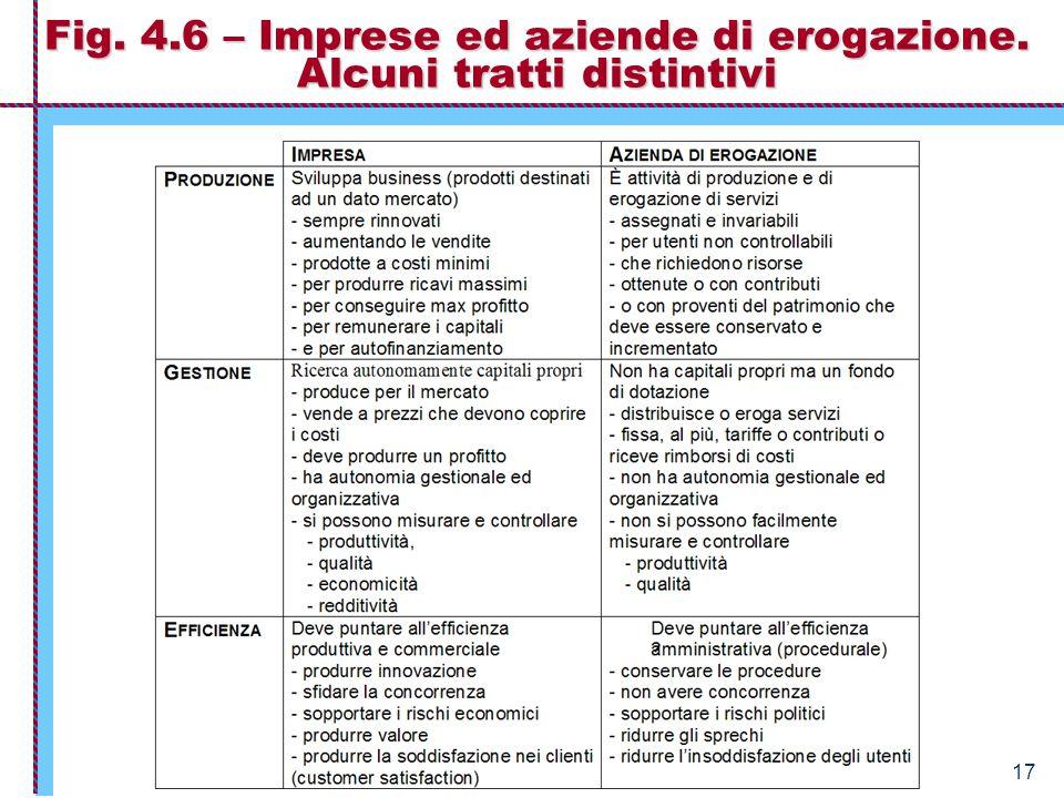 Economia Aziendale – Istituzioni 17 Fig. 4.6 – Imprese ed aziende di erogazione. Alcuni tratti distintivi