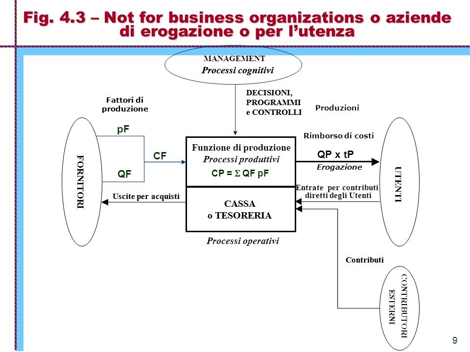 30 Tipologia di non-production organizations secondo i fini In base della natura e della finalità distinguiamo: 2.1) consumption-as-purpose organizations.