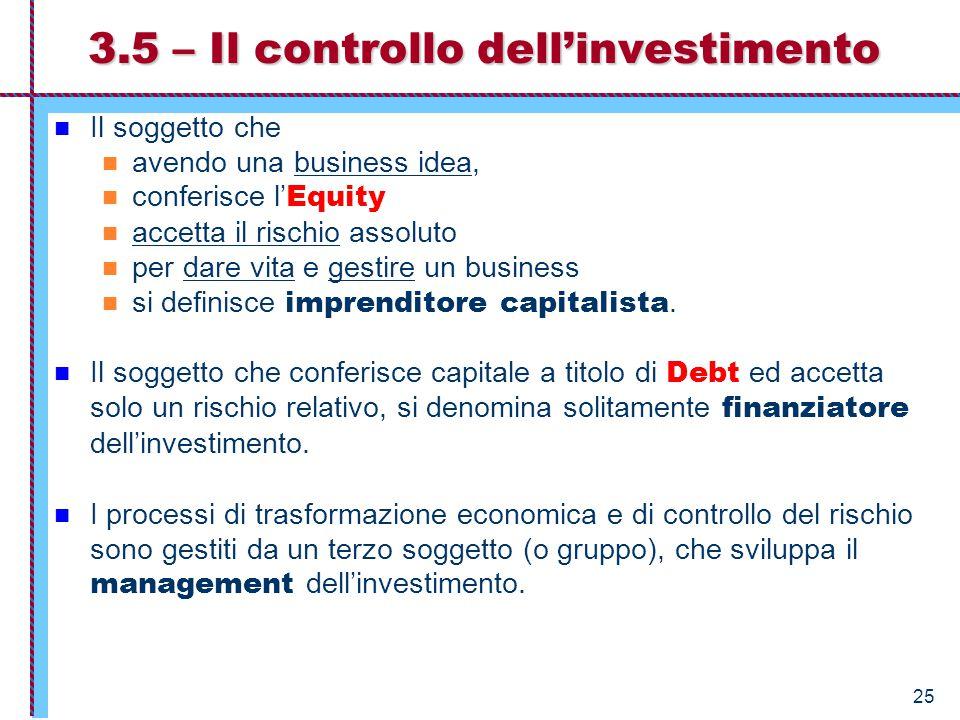 26 Solitamente il management conosce il business meglio dell' investitore.