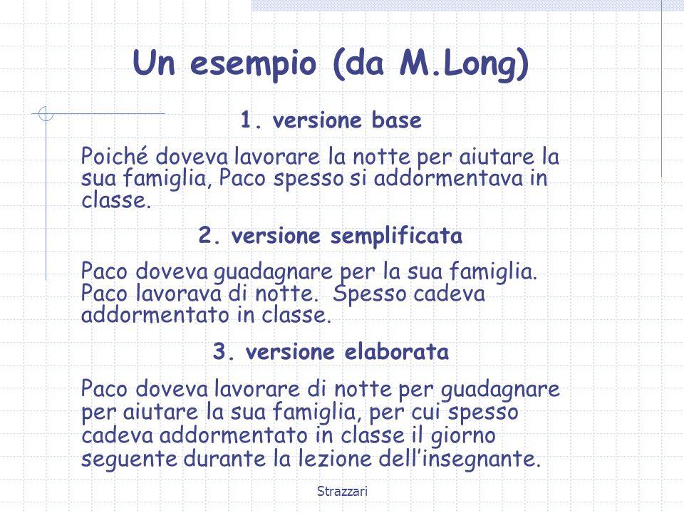 Strazzari Un esempio (da M.Long) 1.