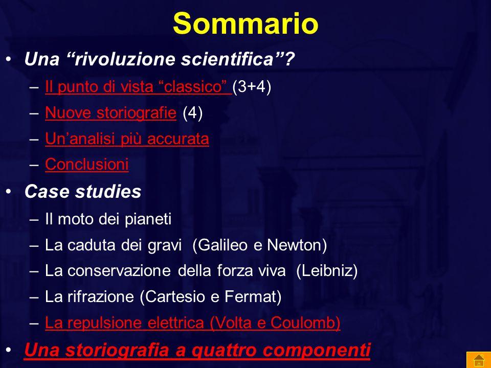 Sommario Una rivoluzione scientifica .